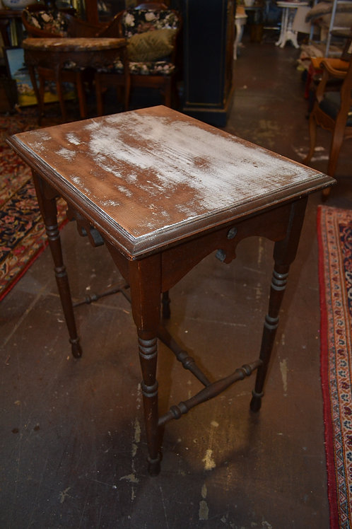 ANTIQUE SIDE TABLE- DARK, WASHED TOP