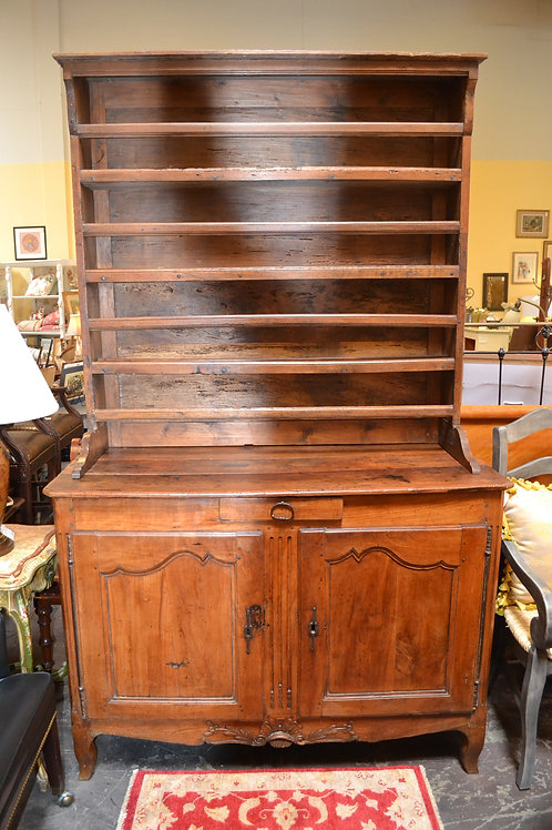 1700'S FAB! ANTIQUE FRENCH HUTCH W PLATE