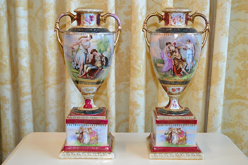 Antique 1890-1900 Royal Vienna vases