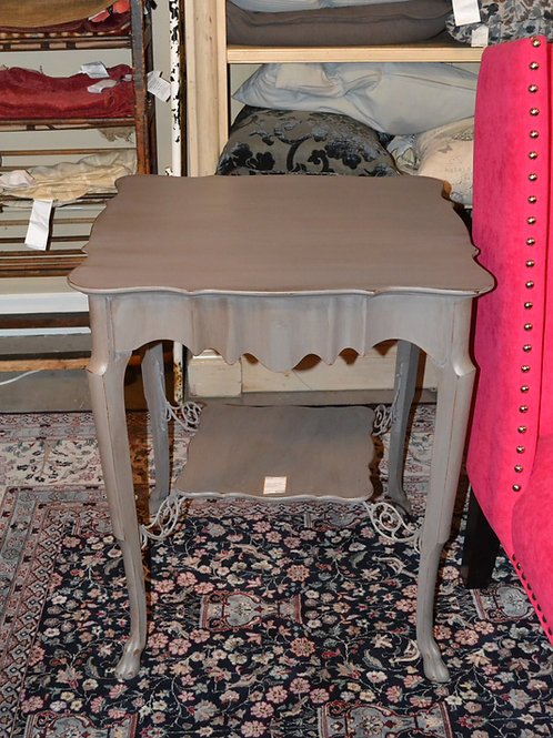 Painted vintage serpentine side table