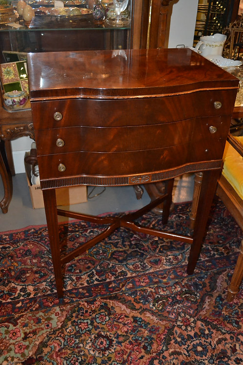 Solid cherry tall 3 drawer night table