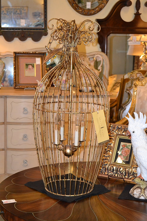 Bella Casa gilt birdcage lantern light fixture