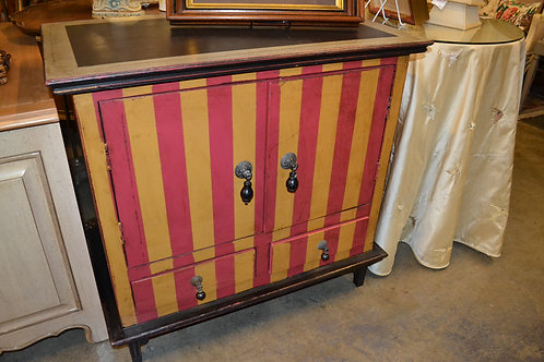 Sweet stripe cabinet, 2 drawer with drop pulls