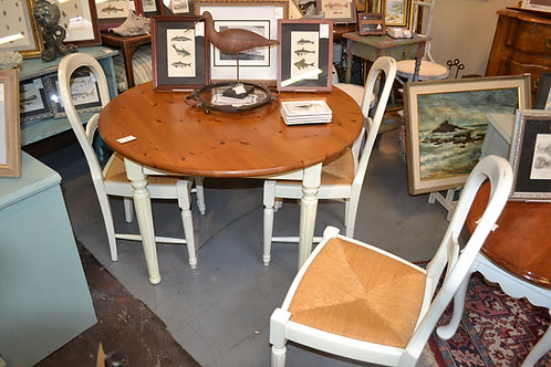 """DINING SET, TABLE W 4 CHAIRS- 42"""" TOP, 18"""" CHAIRS"""
