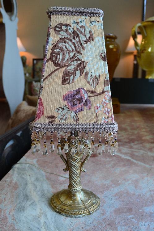 Lamp- Vintage sweet cast latticed urn