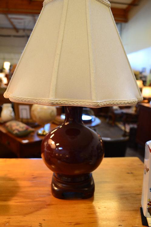 Lamp- Merlot Chinese petite ginger jar