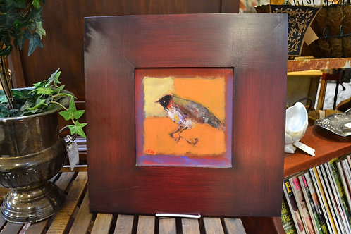Art- Acrylic vibrant bird, local artist Robert Schlegal