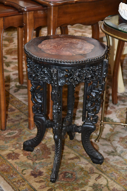 Antique exquisite carved plant stand