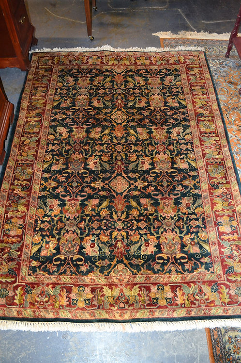 """Carpet- overall red, teal, green ylw- 4'2""""x5'10"""""""