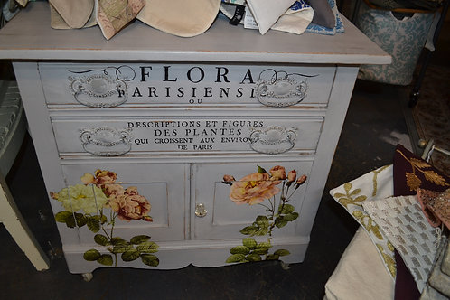 WONDERFUL PAINTED FLORAL CHEST OR COMMODE