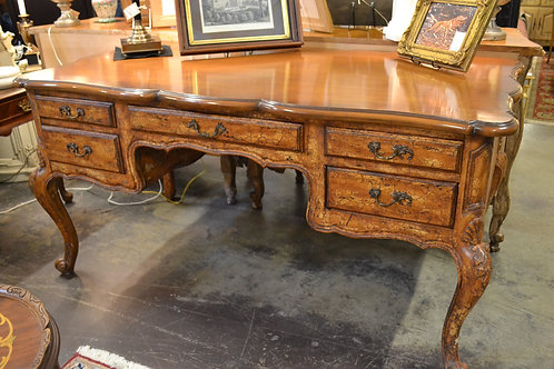 Trouvailles French style mottled desk, 5 dwr