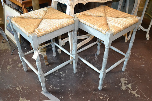 PAIR- VERANDA COUNTER STOOL- DRIFTWOOD FINISH