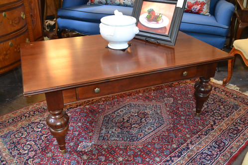 Ethan Allen Coffee Table With Drawer 46 X 27 18