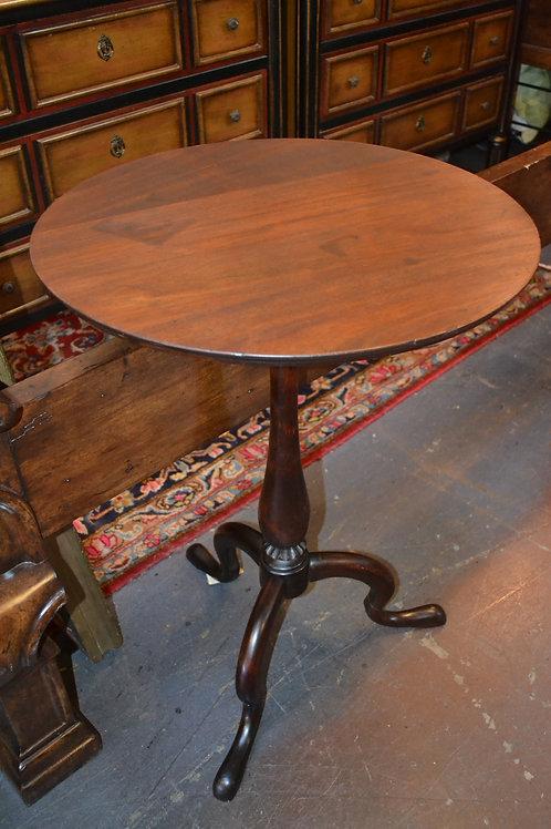 ANTIQUE DARK EARLY! TRI-LEG SIDE TABLE