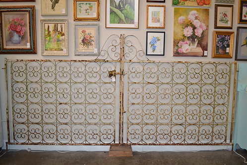 Antique Iron Garden Gate from France