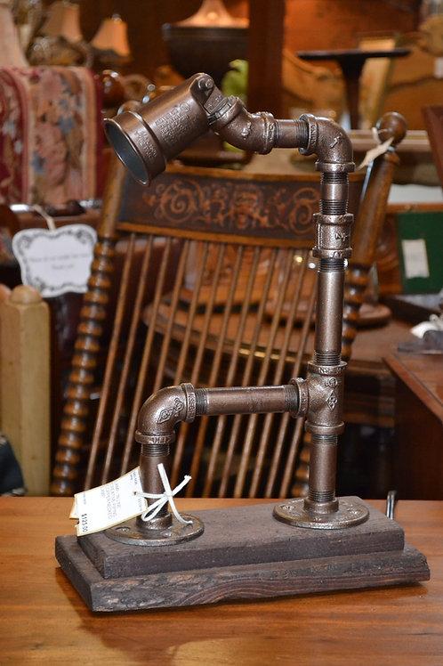 Lamp- Industrial custom galvanized pipe lamp
