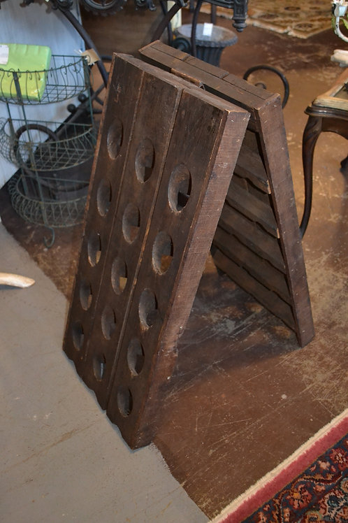 Rare antique French wine riddling rack