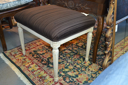 PAINTED UPHOLSTERED FRENCH STYLE BENCH / OTTOMAN