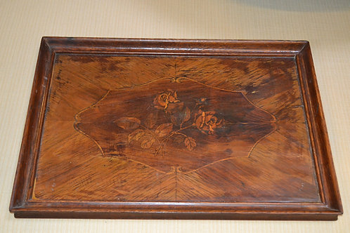 Fabulous large vintage marquetry serving tray