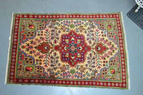 "Vibrant vintage nomadic utility carpet 4'11"" x 3'3"""
