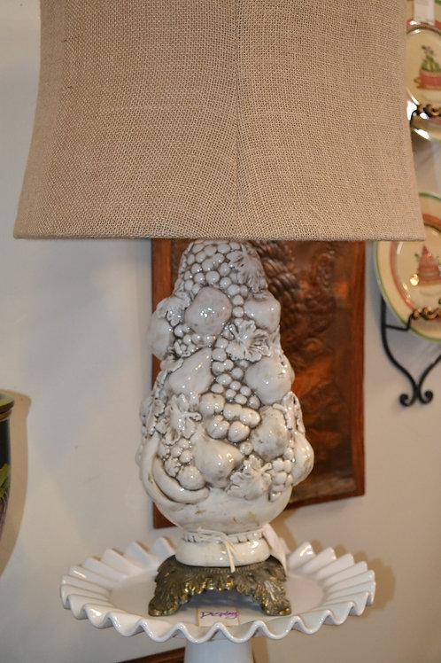 Lamp- Italian ceramic fruit topiary bouquet lamp
