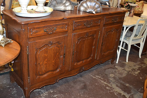 ANTIQUE FRENCH CARVED TRIPLE BUFFET- 71x21x39