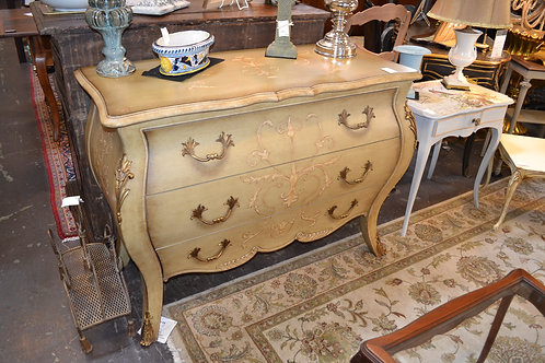 HAND PAINTED BOMBE STYLE DRESSER- 46x20x35