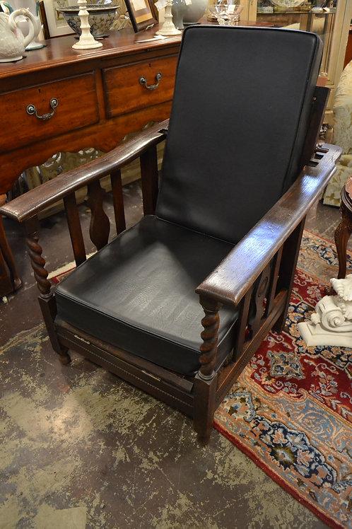 Antique Morris chair w new cushions