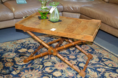 Vintage Drexel Heritage Convertible Butler S Tray Table From Coffee To Bar Cart Height 32 X 18 30
