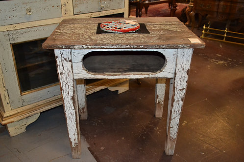 Vintage chippy painted shabby old school desk