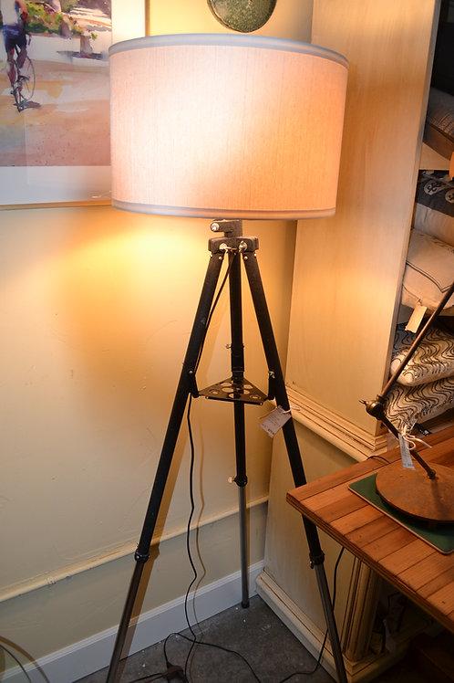 "FLOOR LAMP- INDUSTRIAL VINTAGE TRIPOD W CYCL SHD- 65"""