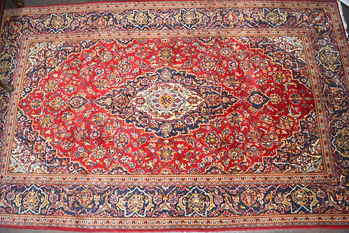 "6' 6"" x 11' Detailed red Oriental Persian carpet"