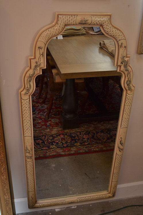 Hand painted arched asian mirror- 24x48