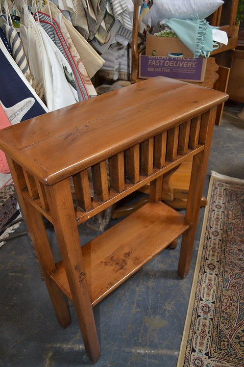 Tall pine 2 tiered console table