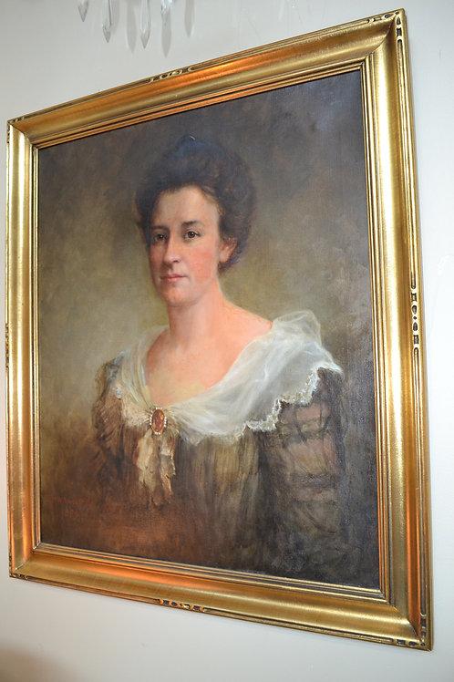 ART- 1899, PORTRAIT OF ROSALIA BAKER SMITH, ARTIST THOMAS WATERMAN WOOD, 25x30