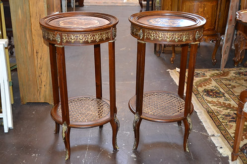 Fabulous antique French marquetry display table
