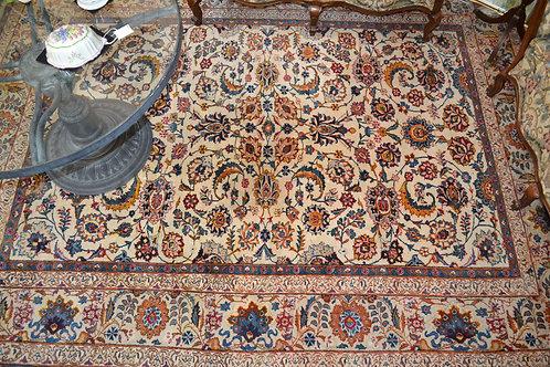 "Elegant finely knotted vintage area rug 8' x 10' 8"""