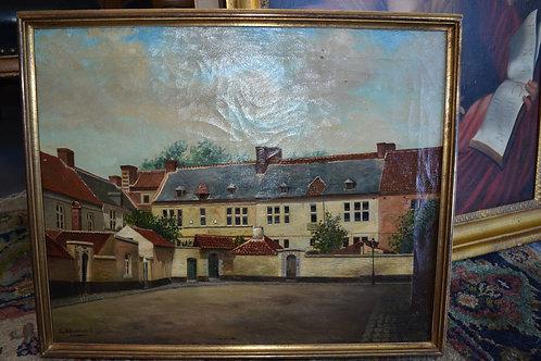 Art- antique oil, listed Artist Jan Haverkamp- Belgium