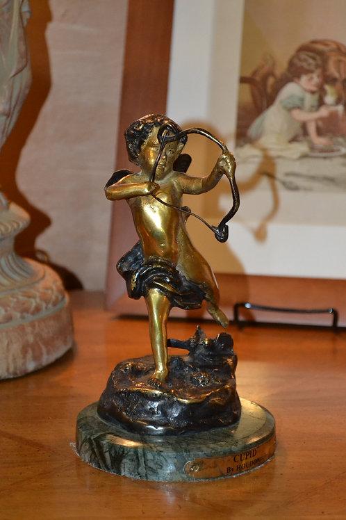 Adorable Houdon bronze Cupid sculpture