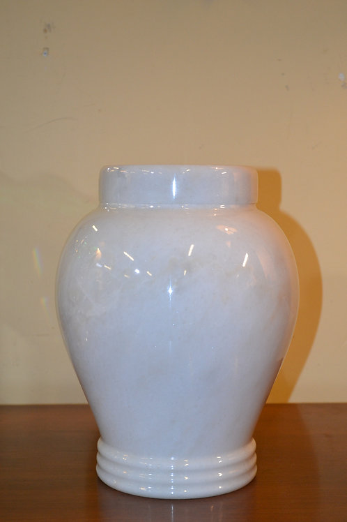 Fantastic white marble urn with a cap
