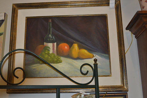 Art- oil, wine and fruit- 32X26