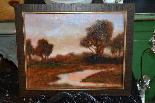 Art- oil by local artist Diane Burns- 'Smooth Flow'