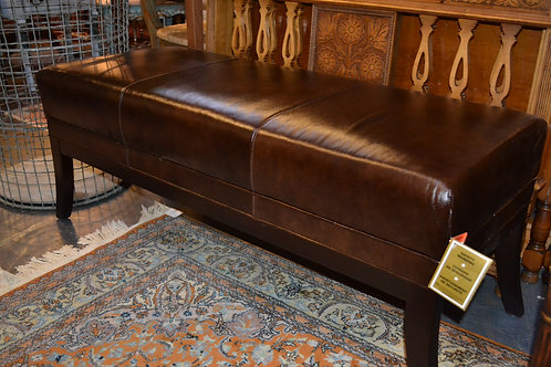 Thomasville leather bench