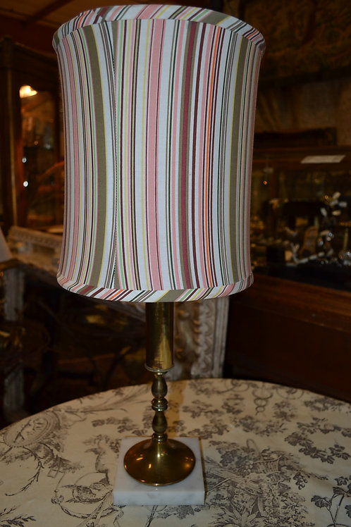 Lamp- Vintage rewired! Brass on marble base