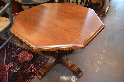 ANTIQUE SOLID OCTAGONAL FOYER OR SIDE TABLE