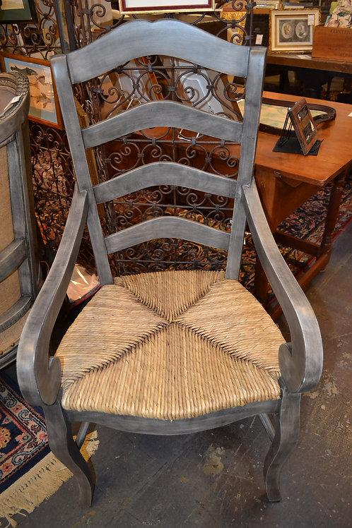 Ladder Back Chair w/ Arm w/ Rush Seat- 2