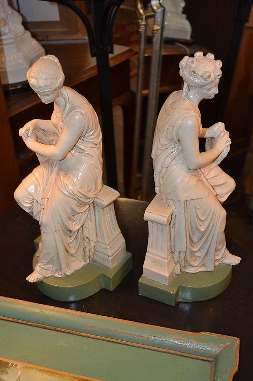 Pair- Roman goddess spelt bookends
