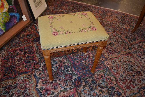 Sweet tall petite French needlepoint ottoman