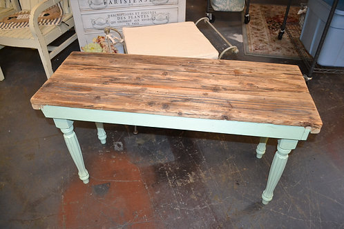 PINE AND PAINTED BENCH- 42x16x22