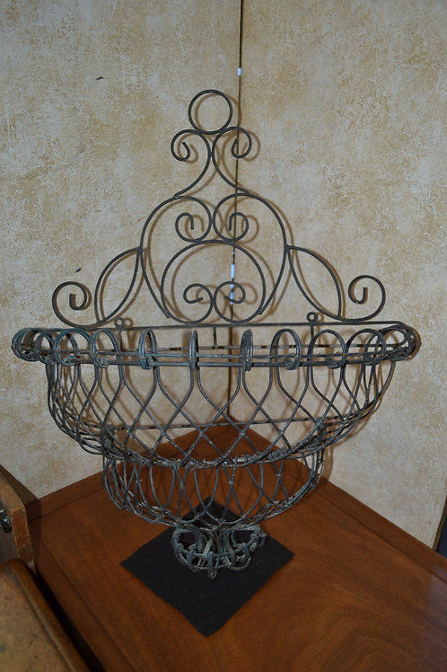 Antique iron french decorative demi wall planter